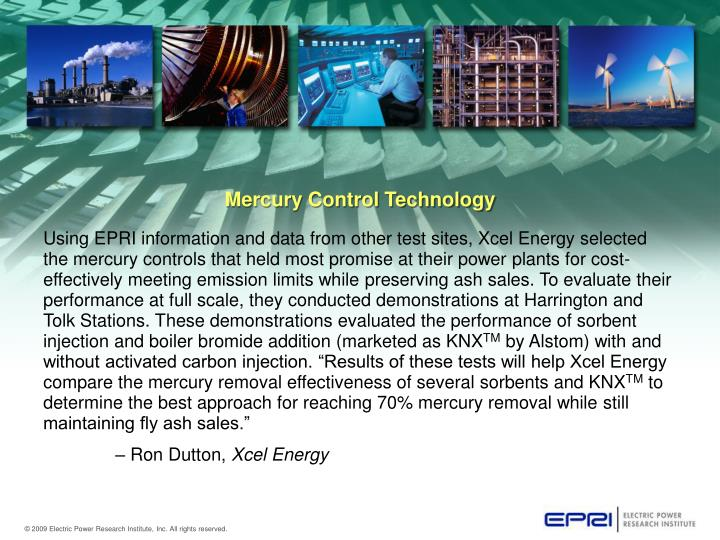 Mercury Control Technology