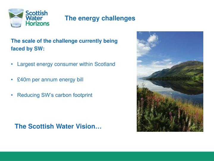 The energy challenges