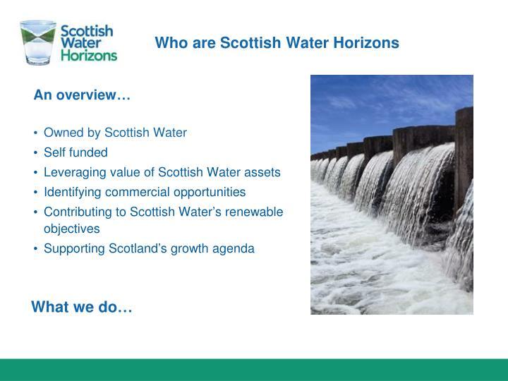 Who are Scottish Water Horizons