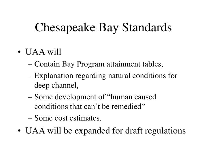 Chesapeake Bay Standards