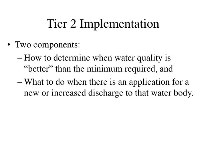 Tier 2 Implementation