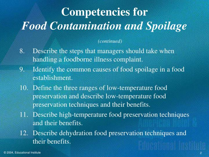 microbial spoilage of food pdf