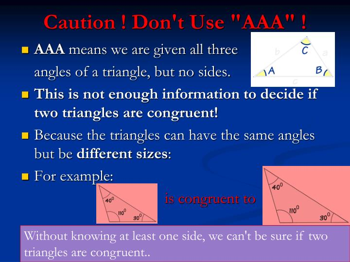 "Caution ! Don't Use ""AAA"" !"