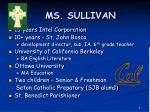 ms sullivan