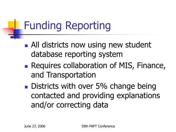Funding Reporting