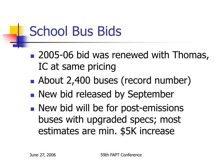 School Bus Bids