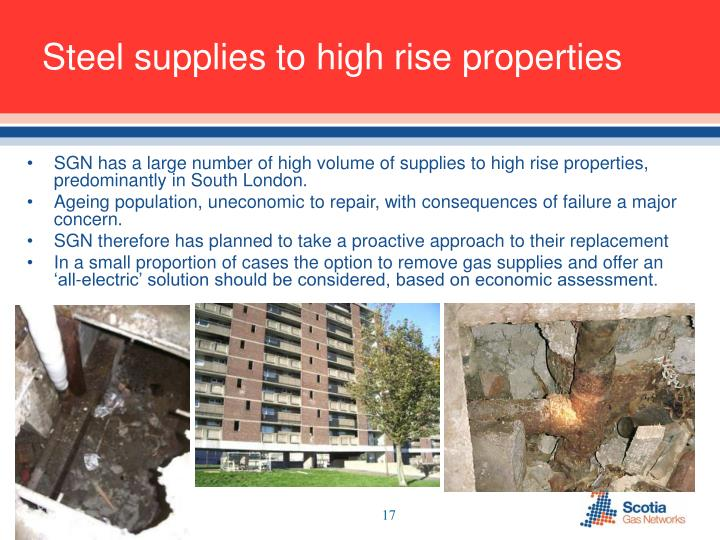 Steel supplies to high rise properties