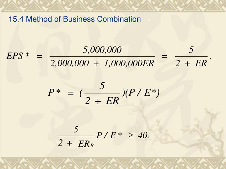 15.4 Method of Business Combination