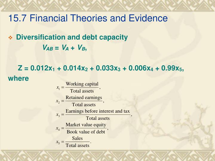 15.7Financial Theories and Evidence