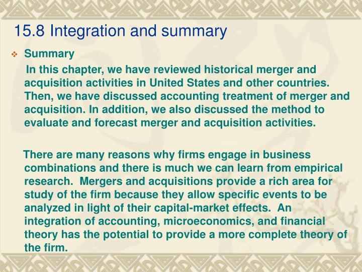 15.8Integration and summary