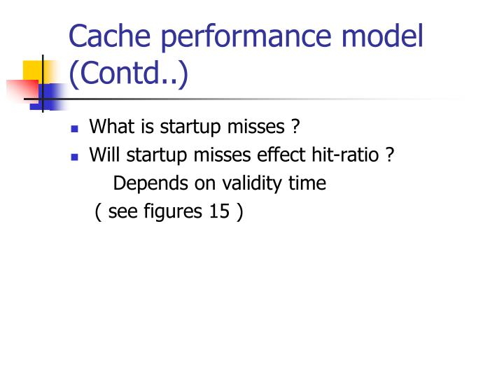 Cache performance model (Contd..)