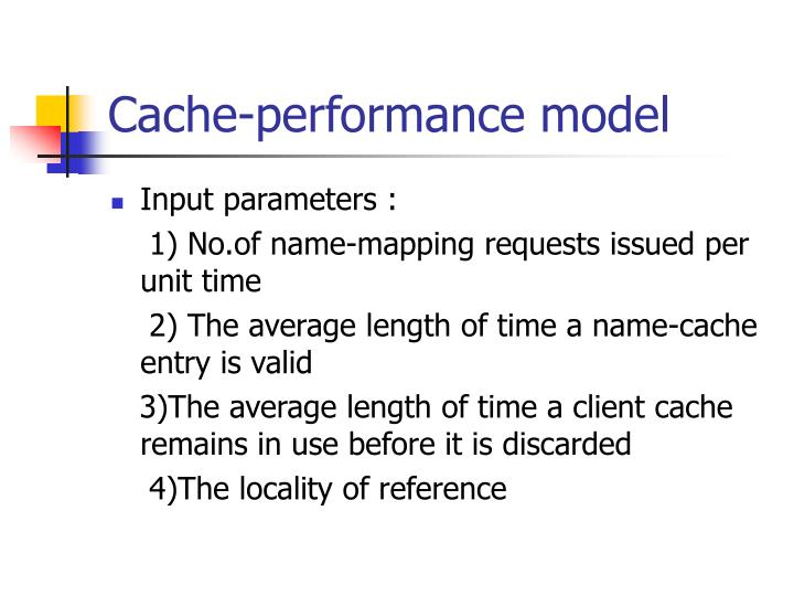 Cache-performance model