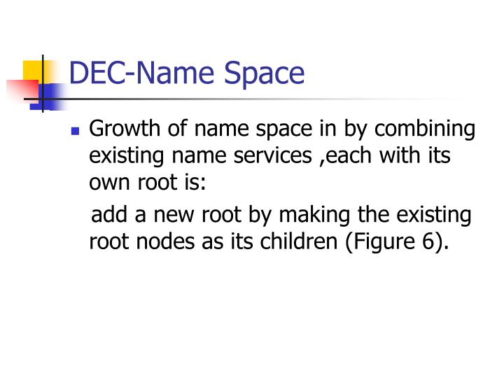 DEC-Name Space