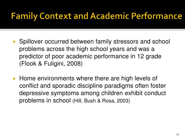 Family Context and Academic Performance