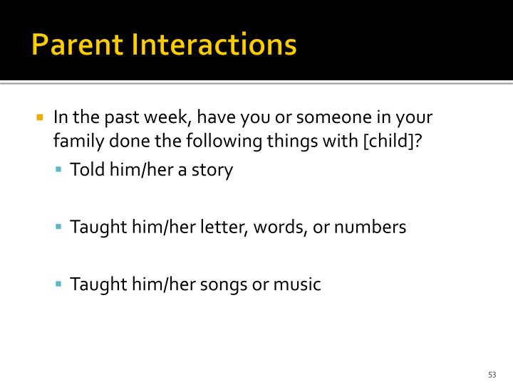 Parent Interactions