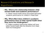 research questions and research hypotheses