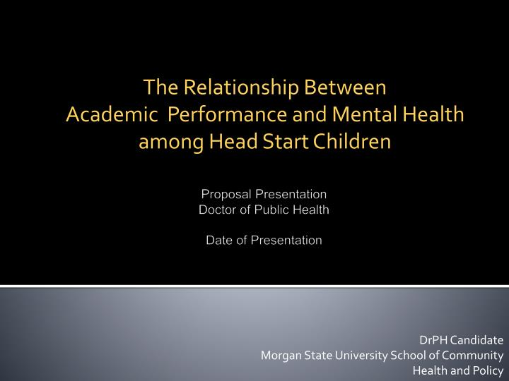 The relationship between academic performance and mental health among head start children