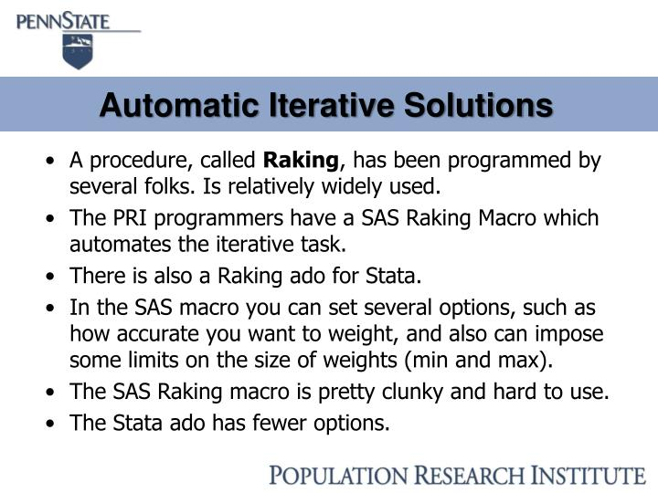Automatic Iterative Solutions