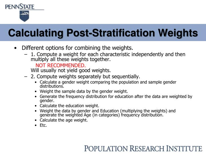 Calculating Post-Stratification Weights