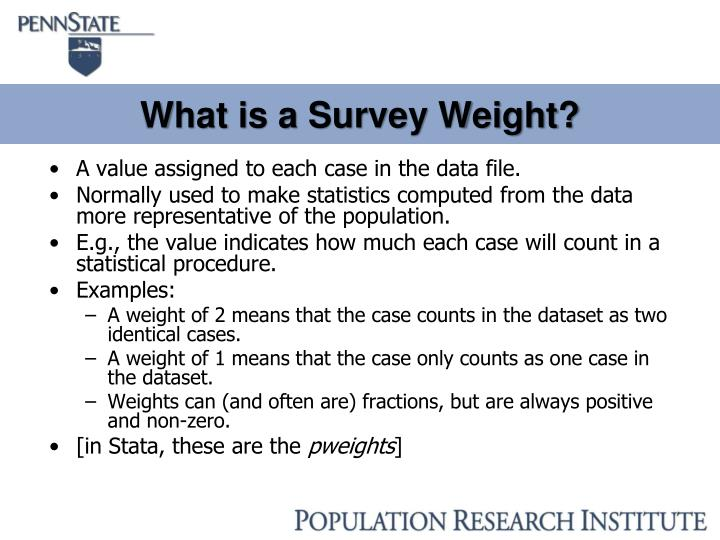 What is a Survey Weight?
