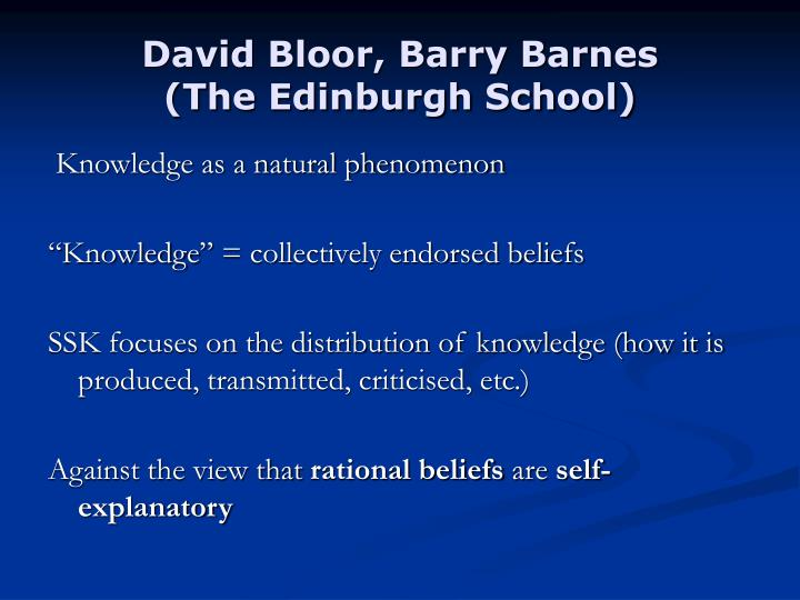 David bloor barry barnes the edinburgh school