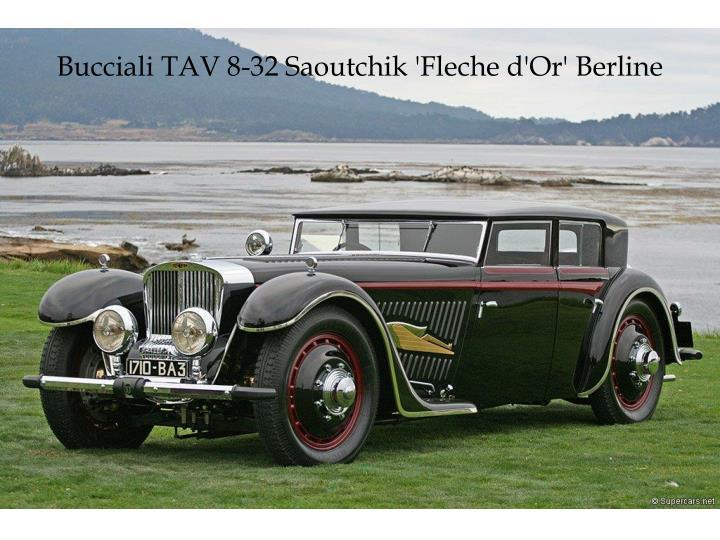 Bucciali TAV 8-32 Saoutchik 'Fleche d'Or' Berline