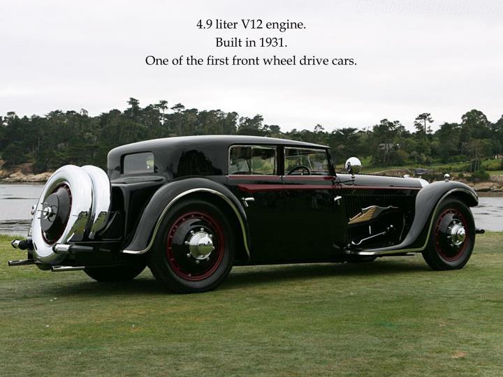 4.9 liter V12 engine.