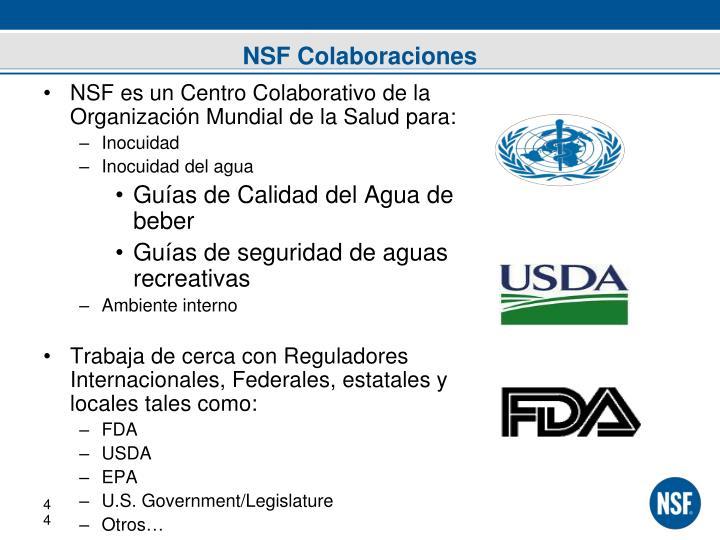 NSF Colaboraciones