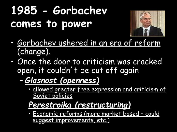 1985 gorbachev comes to power