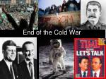 end of the cold war