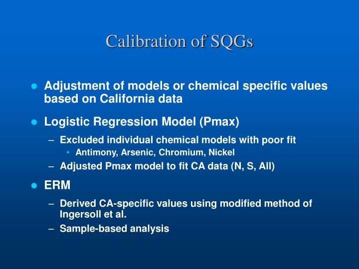 Calibration of SQGs