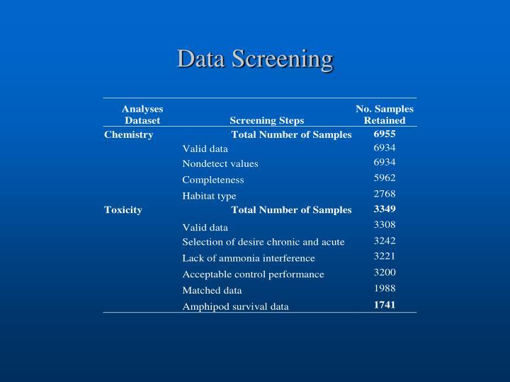 Data Screening