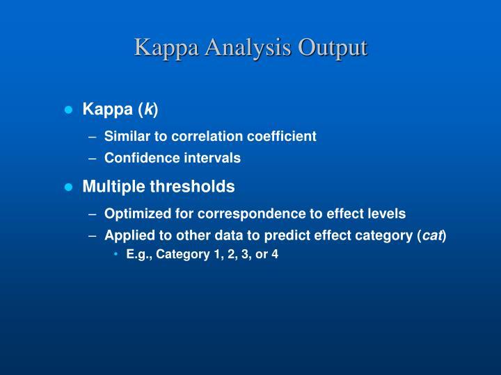 Kappa Analysis Output