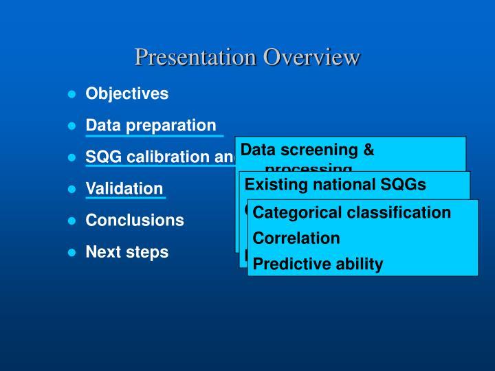 Data screening & processing