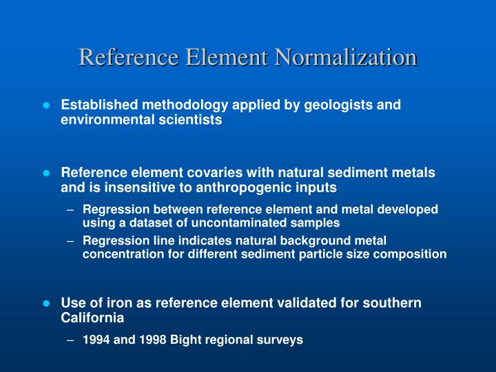 Reference Element Normalization
