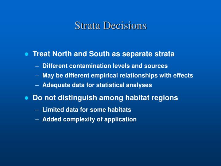 Strata Decisions