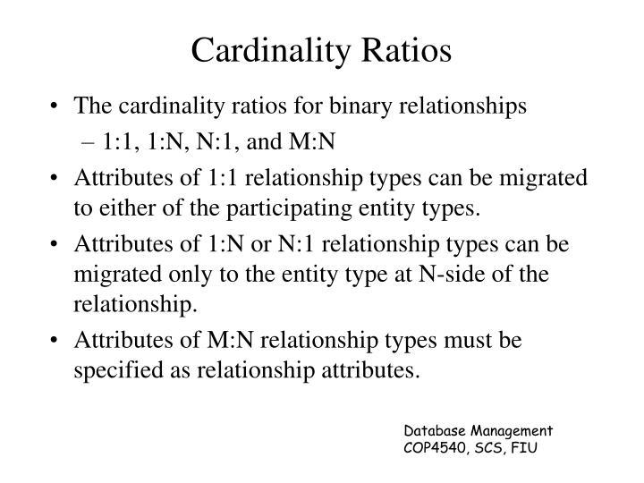 Cardinality Ratios