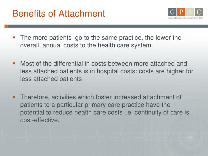 Benefits of Attachment