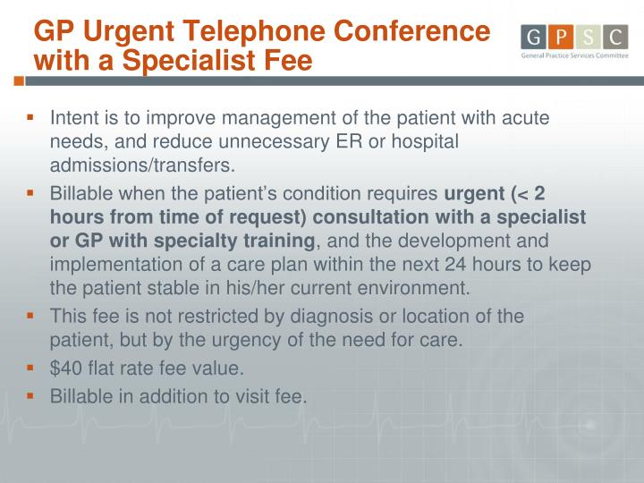 GP Urgent Telephone Conference