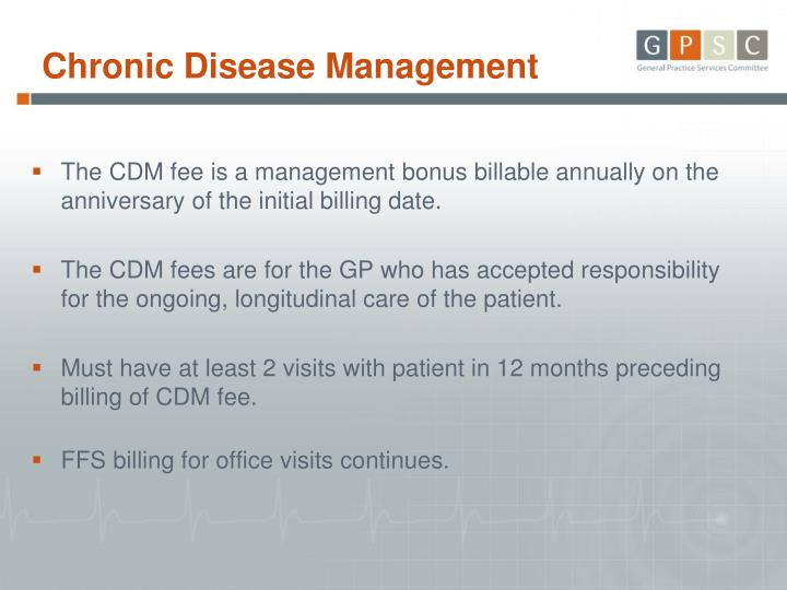 The CDM fee is a management bonus billable annually on the anniversary of the initial billing date.