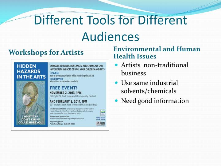 Different Tools for Different Audiences
