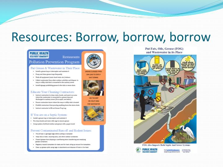 Resources: Borrow, borrow, borrow