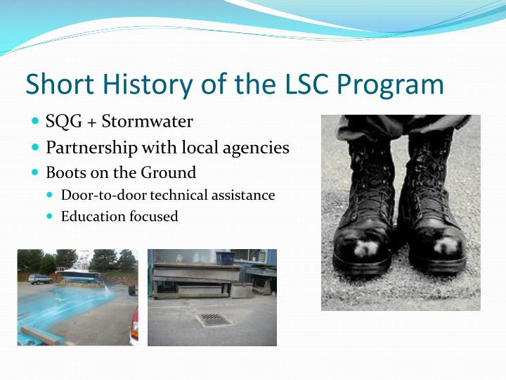 Short History of the LSC Program