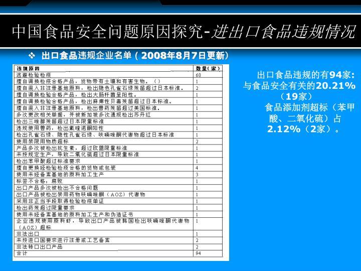 中国食品安全问题原因探究