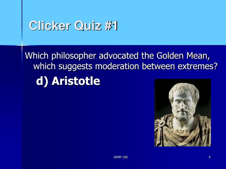 Clicker Quiz #1