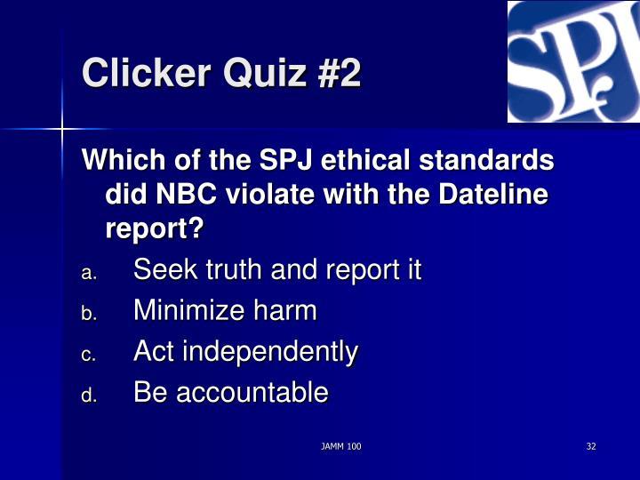 Clicker Quiz #2