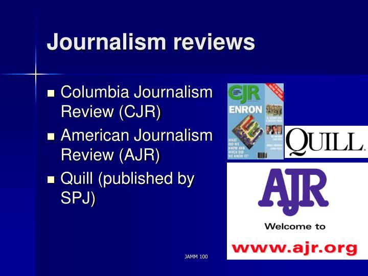 Journalism reviews