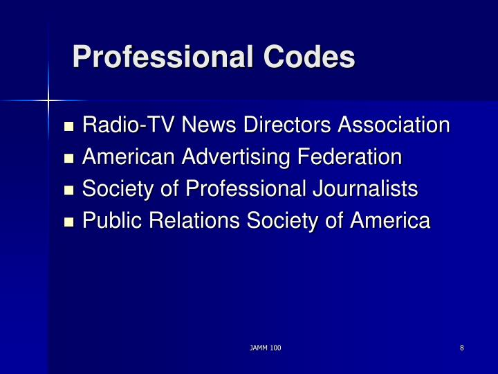 Professional Codes