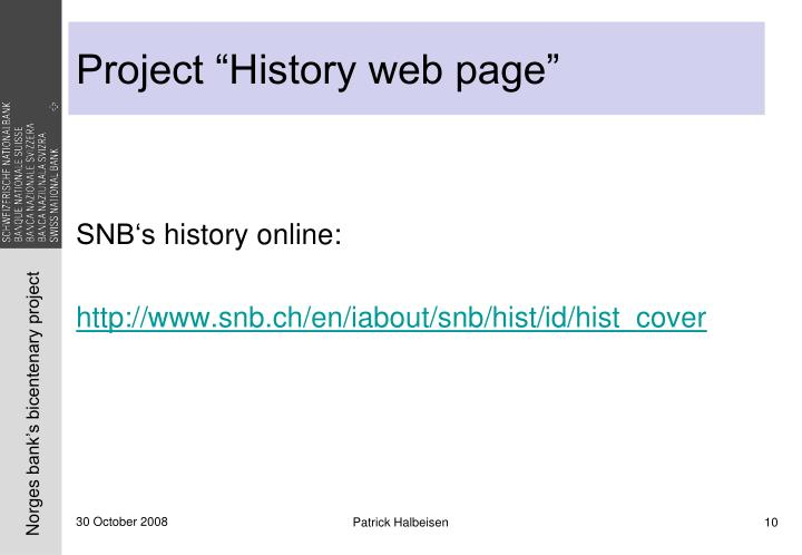 """Project """"History web page"""""""