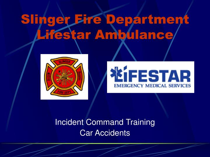 Slinger fire department lifestar ambulance
